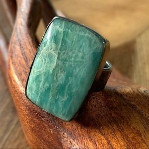 Jewelry - Gorgeous Amazonite and Sterling Ring